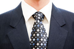 Formal wear. Business formal wear with blue tie and suit Royalty Free Stock Photos