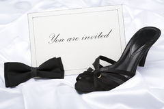 Formal wear party invitation Stock Image