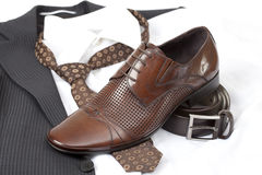 Formal wear and shoes Stock Photos