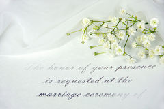 Formal wedding invitation Stock Image