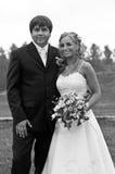 Formal wedding portrait Stock Images