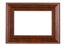 Formal wooden picture frame Royalty Free Stock Photo