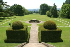 Formal yew topiary garden in England, Europe. Royalty Free Stock Photography