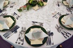 Formale Abendessen-Einstellung Lizenzfreies Stockbild