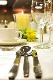 Formale Abendesseneinstellung stockfotografie