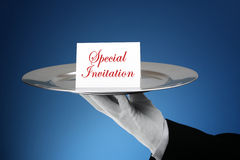 Formale Einladung Stockbild