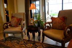 Formale Stühle Lizenzfreies Stockfoto