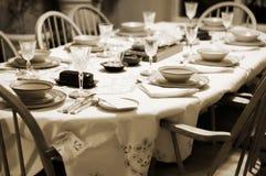 Formale Tabellen-Einstellung zu Hause Stockbild