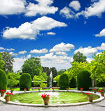 Formaler Garten. allgemeiner Park stockfoto