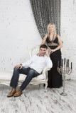 Formales Porträt eines Paares Lizenzfreie Stockfotos