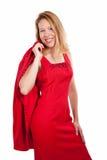 Formales rotes Kleid Stockbild
