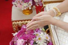 Formalità di cerimonia nuziale in Tailandia fotografie stock