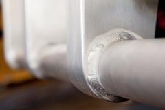 Formalnie spawka aluminium ciężarówki Bullbar szczegół obraz royalty free