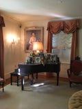 Formalny żywy pokój przy Eisenhower gospodarstwem rolnym obrazy stock