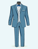 Formalny kostium dla mężczyzna ilustracja wektor
