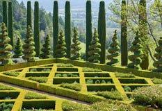 Formalny ogród w Kalifornia winnicach zdjęcia stock