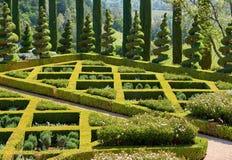 Formalny ogród w Kalifornia winnicach zdjęcia royalty free