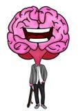 Formalny postać z kreskówki mózg z deskorolka royalty ilustracja