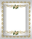 formalny zaproszenia róż szablonu biel Zdjęcie Stock
