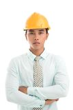 Formalwear and hardhat Royalty Free Stock Images