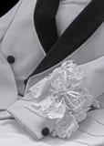 Formalwear tux jacket black white wedding garter Royalty Free Stock Photos