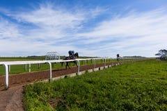 Formação dos cavalos de raça Foto de Stock