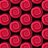 Formar den abstrakta sömlösa modellen för vektorn med att rotera i skuggor av rött Arkivfoto
