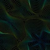 Formar den sömlösa modellen för vektorn, abstrakt holographic textur, buktade linjer, vätska växt för effekt 3d… leaves för green Fotografering för Bildbyråer