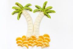 Formar idérik mat för fruktefterrätten royaltyfri bild