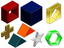 formas 3D ilustração do vetor