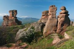 Formas aéreas de la roca Fotografía de archivo