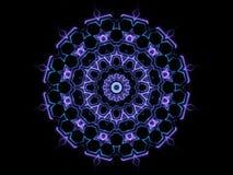 Formas abstractas azules y fondo negro Imagen de archivo