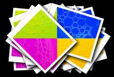 Formas abstractas coloridas Imagen de archivo libre de regalías
