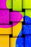 Formas abstractas coloridas Fotos de archivo