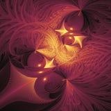 Formas abstractas de la fantasía en fondo negro Fotografía de archivo