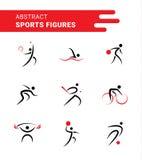 Formas abstractas de los deportes Libre Illustration
