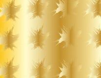Formas abstractas de oro rizadas. Fotos de archivo