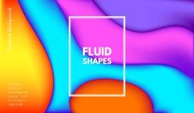 Formas abstractas del color de la onda con el efecto 3d Stock de ilustración