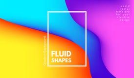 Formas abstractas del color de la onda con el efecto 3d Libre Illustration