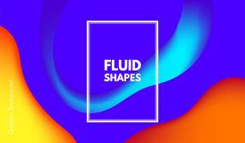 Formas abstractas del color de la onda con el efecto 3d Ilustración del Vector