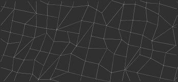 Formas abstractas del esquema en fondo negro Fotos de archivo libres de regalías