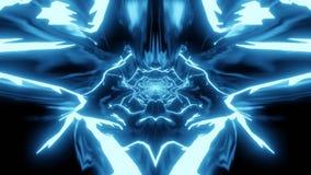 Formas abstractas del estilo del animado en azul stock de ilustración