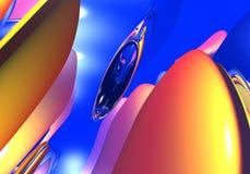 Formas abstractas en el cielo ilustración del vector