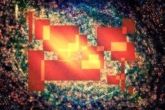 Formas abstractas en fondo oscuro Imagen de archivo libre de regalías