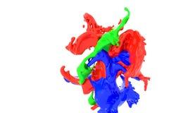 Formas abstractas que simulan el chapoteo de la pintura Fotos de archivo libres de regalías