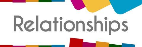 Formas abstratas coloridas dos relacionamentos Imagens de Stock