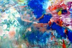 Formas abstratas da aquarela em cores macias vívidas, fundo abstrato ilustração stock