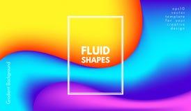 Formas abstratas da cor da onda com efeito 3d Imagem de Stock Royalty Free
