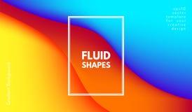 Formas abstratas da cor da onda com efeito 3d Imagem de Stock
