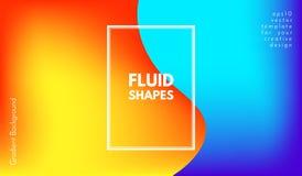 Formas abstratas da cor da onda com efeito 3d Foto de Stock